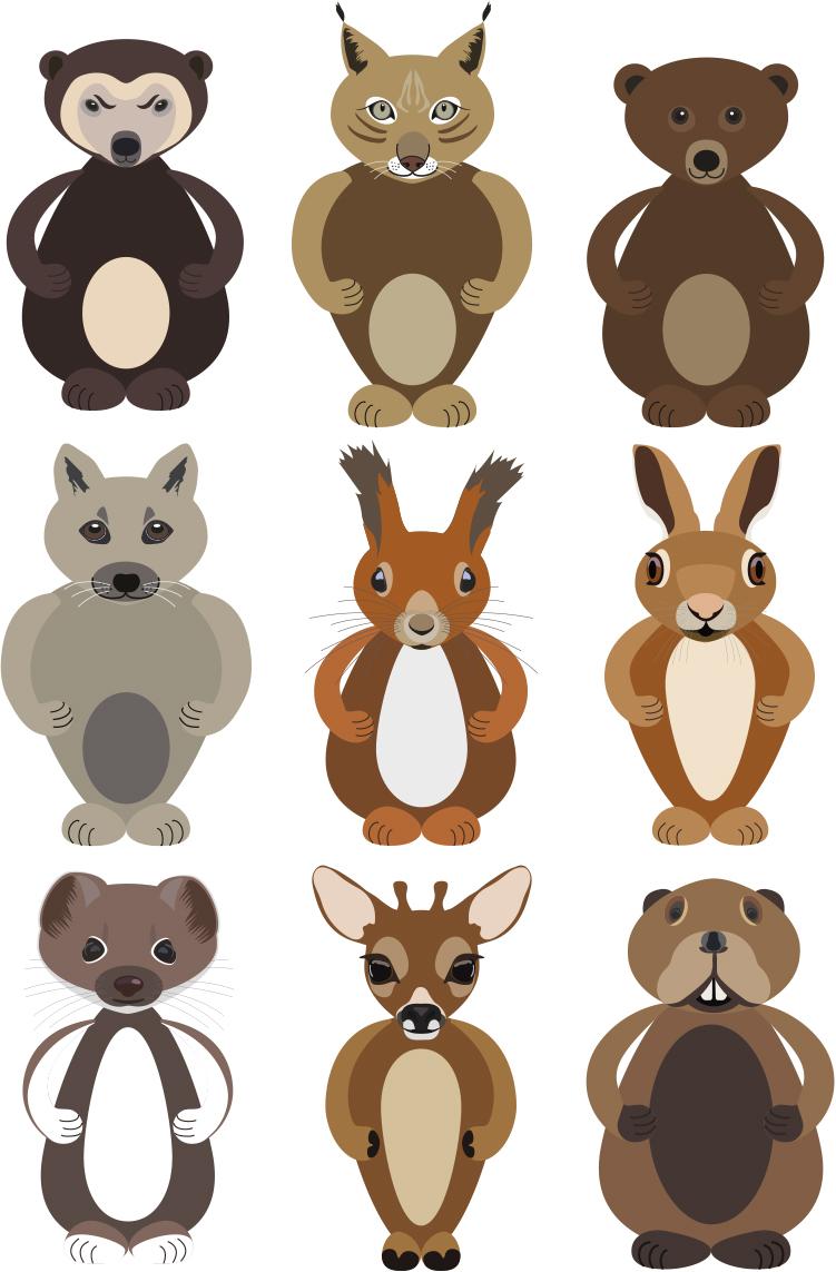 Dyr i farger A3_m_alle_samlet
